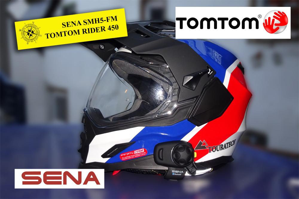 Verbindung: SENA SMH5-FM mit TOMTOM RIDER 450 und Samsung Smartphone