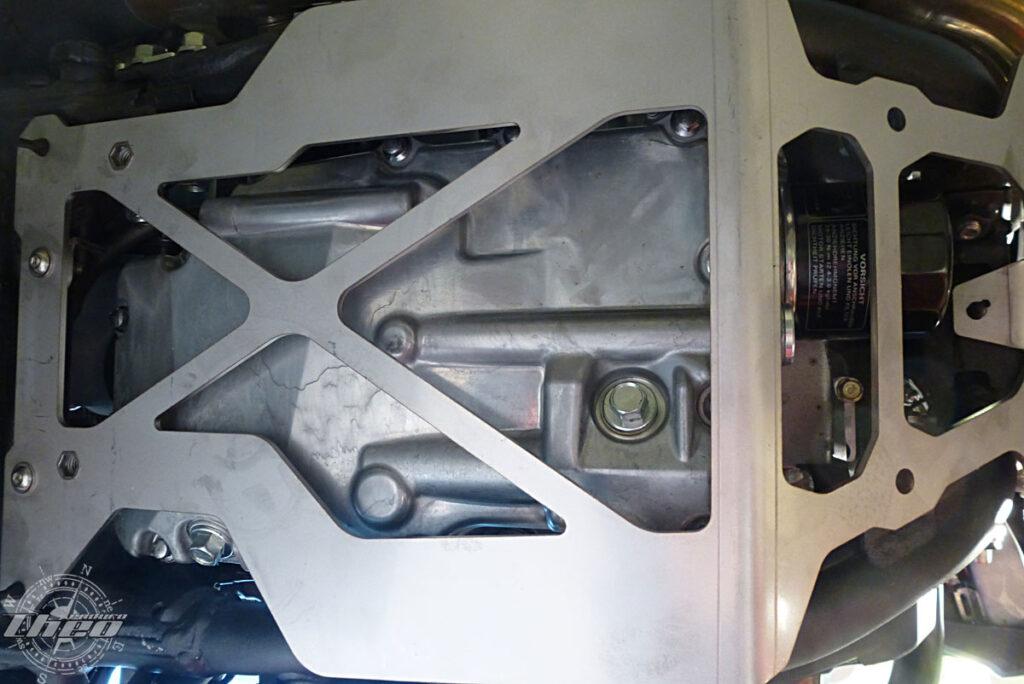 Motorschutzplatte Touratech an der Africa Twin