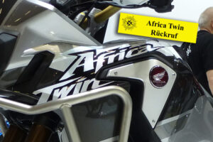 Rückruf der Honda Africa Twin Verunreinigung im Tank