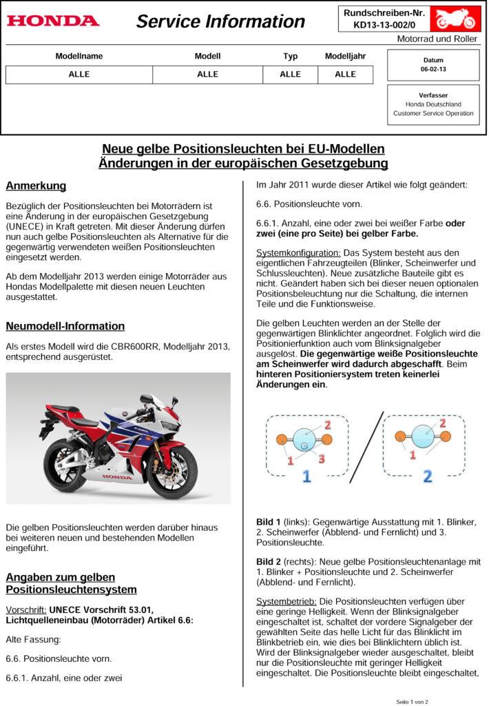 Honda KD13-13-002 Begrenzungsleuchten-Seite1